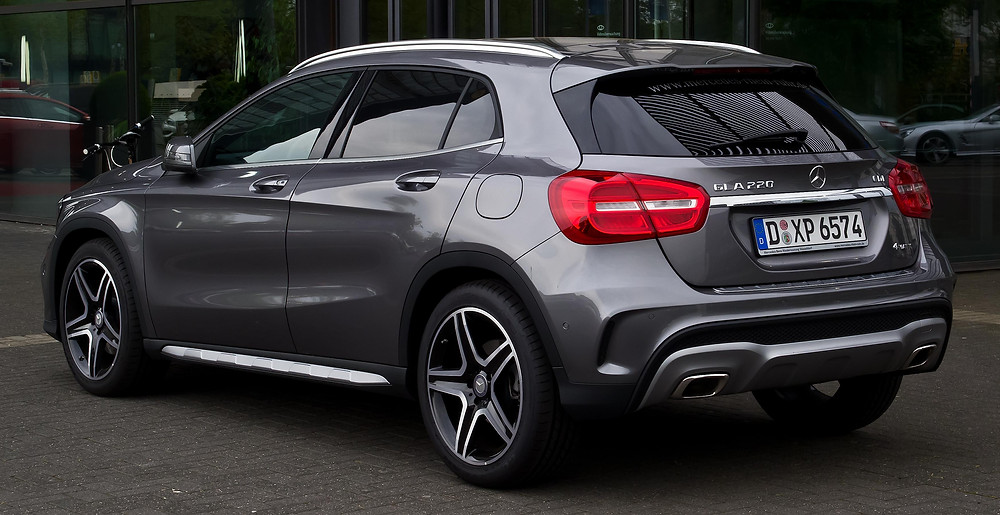 A Mercedes Benz GLA, colour grey