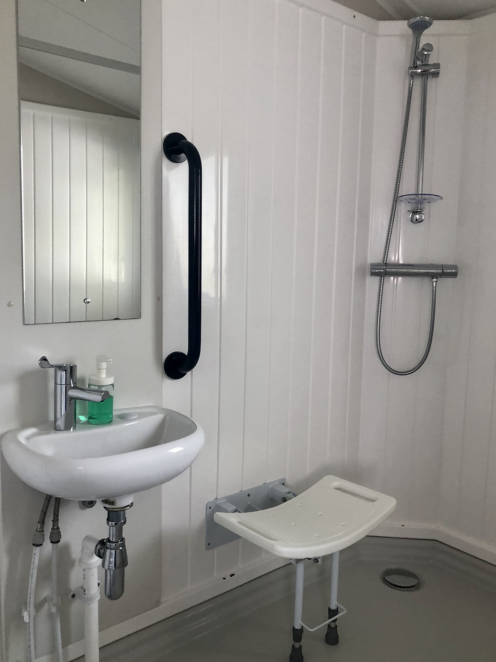 Callander Woods Wheelchair Accessible Caravan Sink and Shower