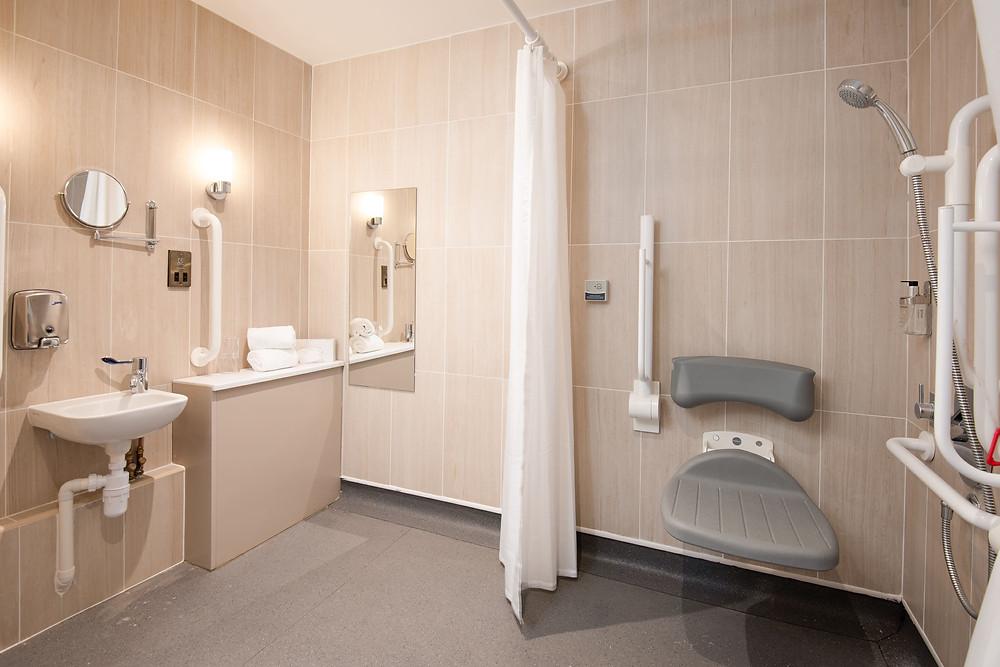 The Amble Inn Wheelchair Accessible Shower