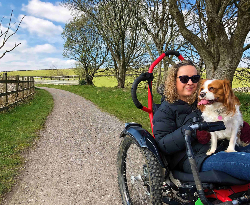 Carrie-Ann Lightley and her dog Poppy at Hoe Grange Holidays