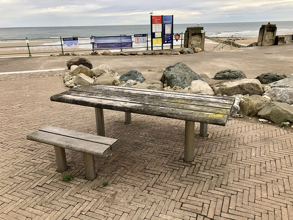 Wheelchair Accessible picnic bench in Seaburn, Sunderland