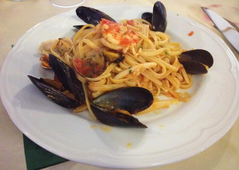Seafood pasta Rome