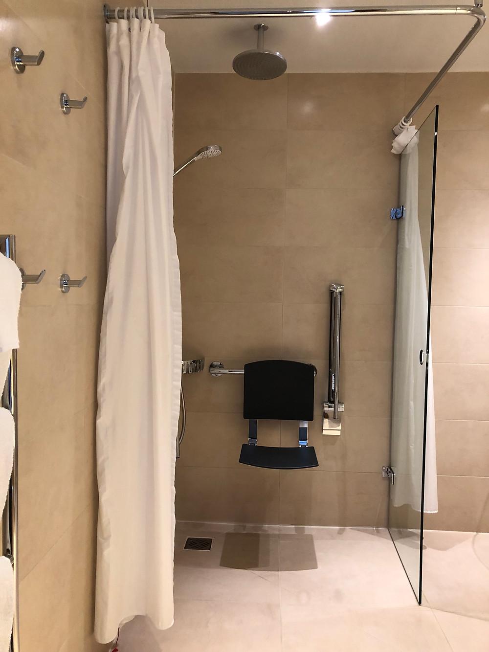 Rudding Park Wet room shower
