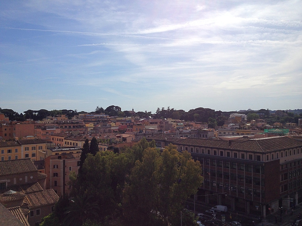 View of Rome from hotel rooftop
