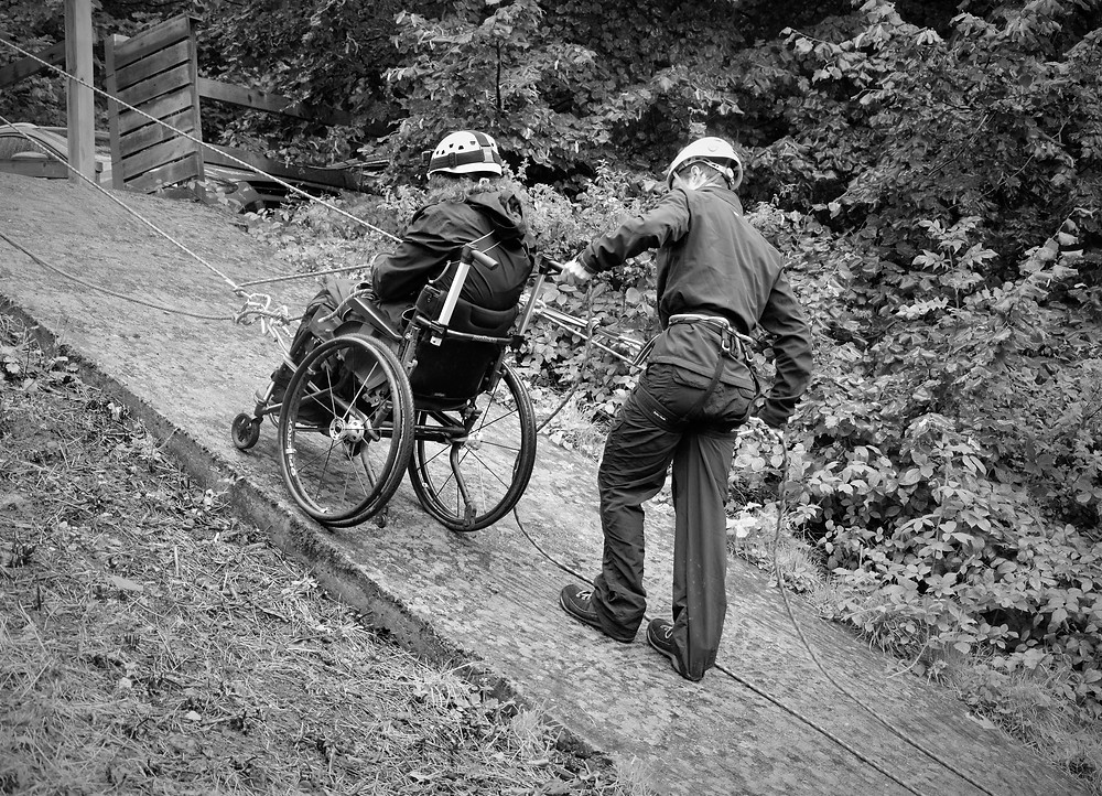 Carrie-Ann Lightley Disabled Travel Blogger wheelchair abseiling
