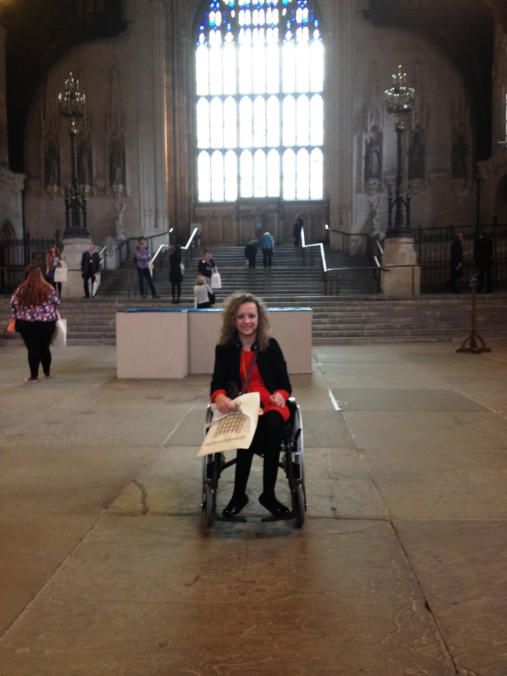 Carrie-Ann Lightley Disabled Travel Blogger Visiting Parliament's Great Hall