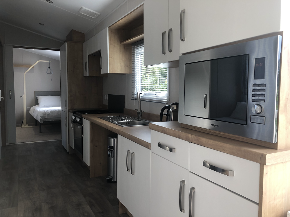 Callander Woods Wheelchair Accessible Caravan Kitchen