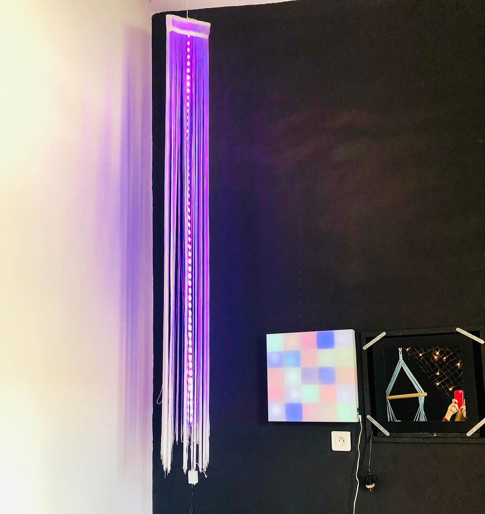 Colourful lights in sensory room