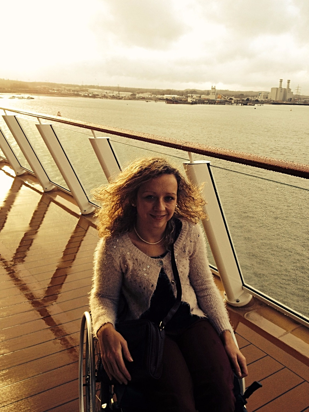 Carrie-Ann Lightley Disabled Travel Blogger on board the Norwegian Getaway Accessible Cruise Ship