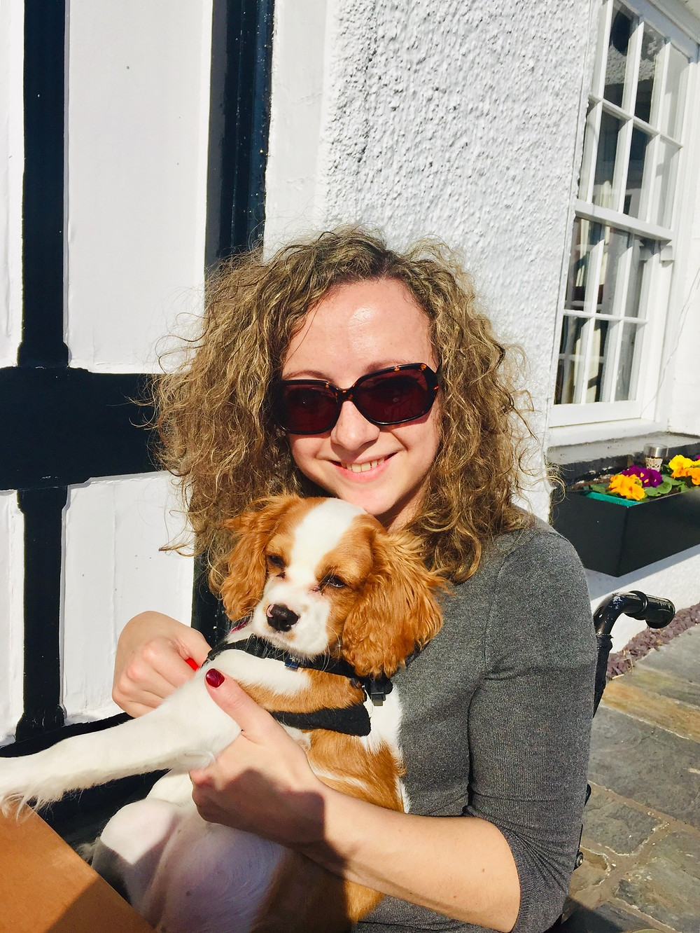 Carrie-Ann Lightley Disabled Travel Blogger and her dog Poppy