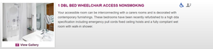Booking an accessible room online at Crowne Plaza Glasgow