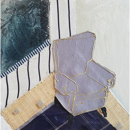 Grey Club Chair
