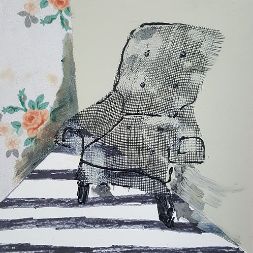 Platform Cloth Club Chair