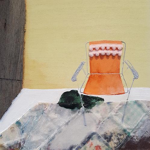 Orange Lawn Chair