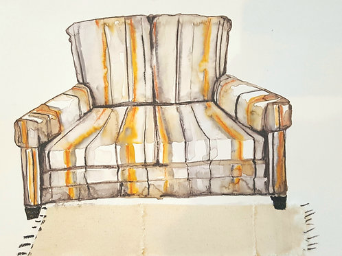Striped Love Seat