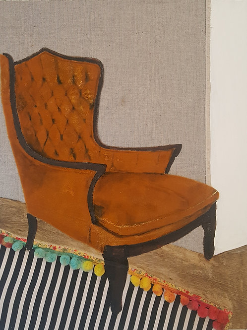 Yellow Curry Chair