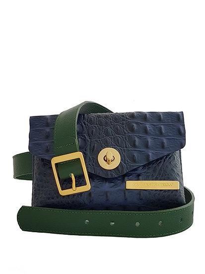 Blue Croco BELT BAG