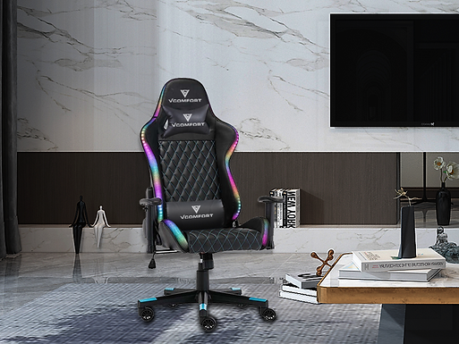 VComfort™ Ergonomic Gaming Chair with RGB LED Lighting