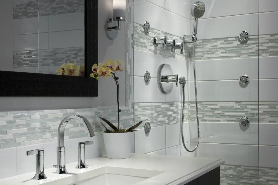 Modern bathroom with Shower system