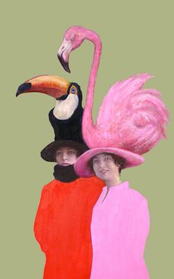 Chapeaux Toucan Flamant