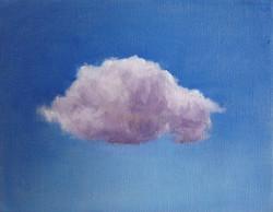Petit nuage mauve ciel bleu outremer