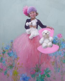 Thaïs et sa chaise rose