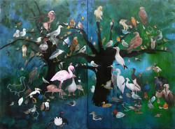 La Liste/ Le grand diptyque aux oiseaux