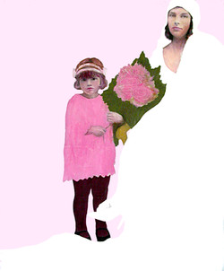 Mariée fonds rose