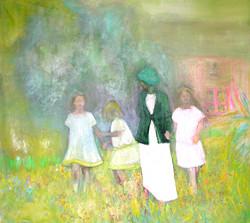 4 femmes fond jaune