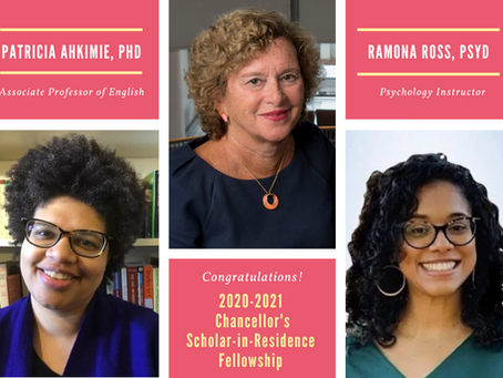 Meet the 2020-2021 Recipients of the Chancellor's Scholar-in-Residence Fellowship