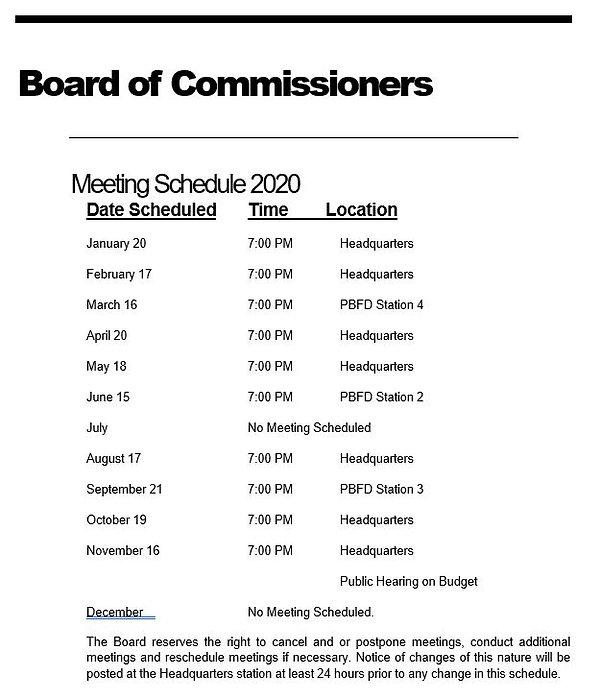 Commissioner Meeting Schedule 2020.JPG