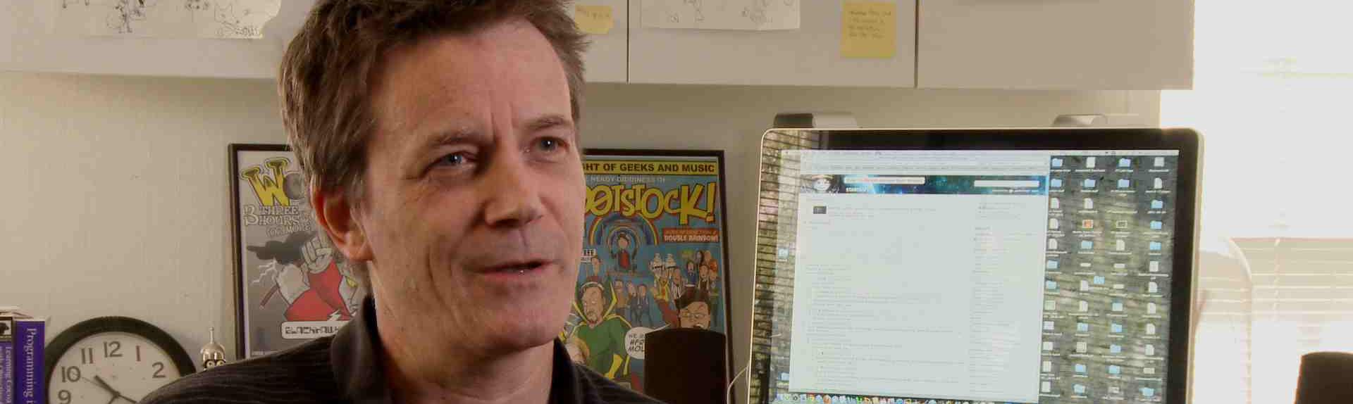 Cartoonist Bill Amend (Foxtrot)