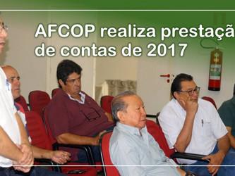 AFCOP realiza prestação de contas de 2017