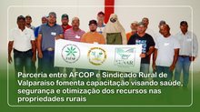 Parceria entre AFCOP e Sindicado Rural de Valparaíso fomenta capacitação visando saúde, segurança e