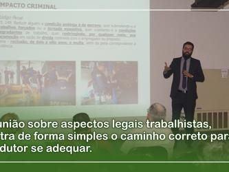 Reunião sobre aspectos legais trabalhistas, ilustra de forma simples o caminho correto para produtor