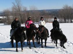 Équitation en hiver