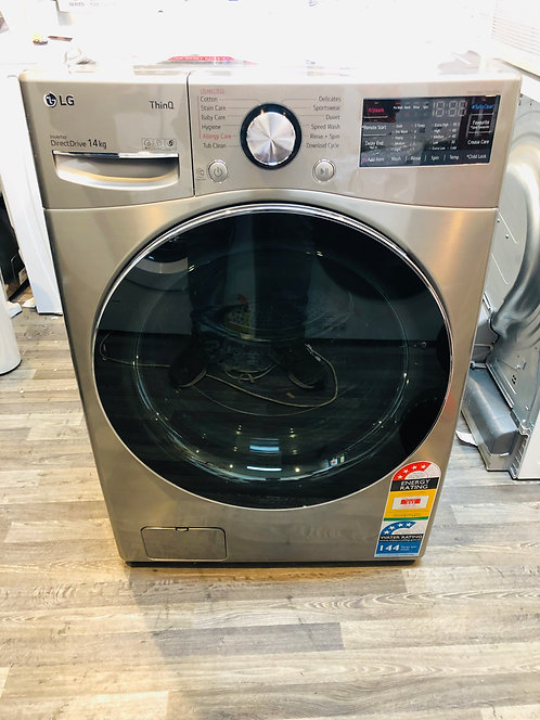 LG 14KG Washing Machine with Steam+ and Turbo Clean® SILVER STEEL
