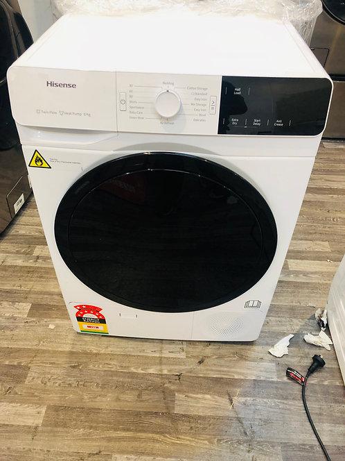 Hisense 8KG Heat Pump Dryer 8 STAR Energy Ratings
