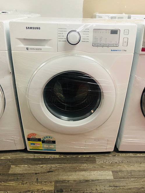 "Samsung ""7.5"" KG Bubble Wash Front Loader Washer Washing Machine"
