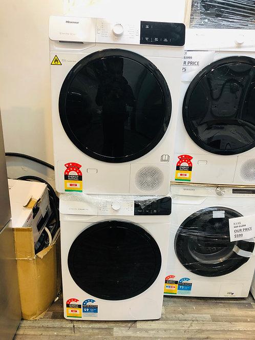 Hisense 8Kg AddWash Washer & 8Kg Heat Pump Dryer [2020 Model]