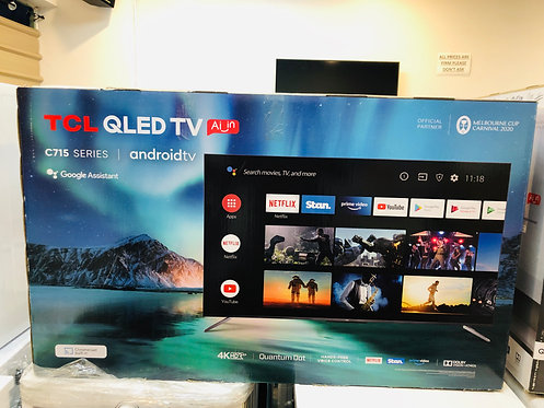 "TCL 50"" QLED 4K Android Smart Wifi TV"