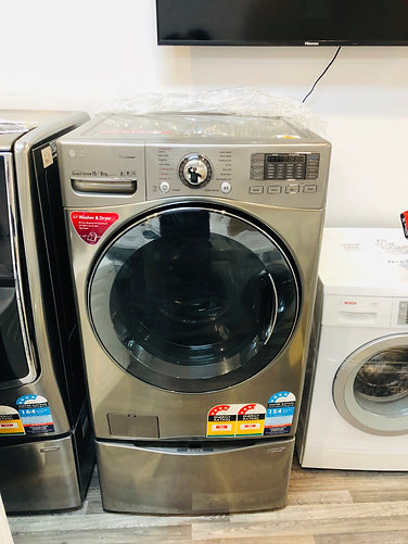 LG  17.5/8Kg TwinWash® TrueSteam Washer Dryer Combo with MiniWasher Wifi AddWash