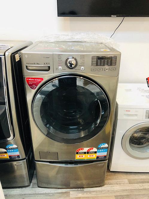 LG  17.5/8Kg TwinWash® TrueSteam Washer Dryer Combo with MiniWasher Wifi AddWash