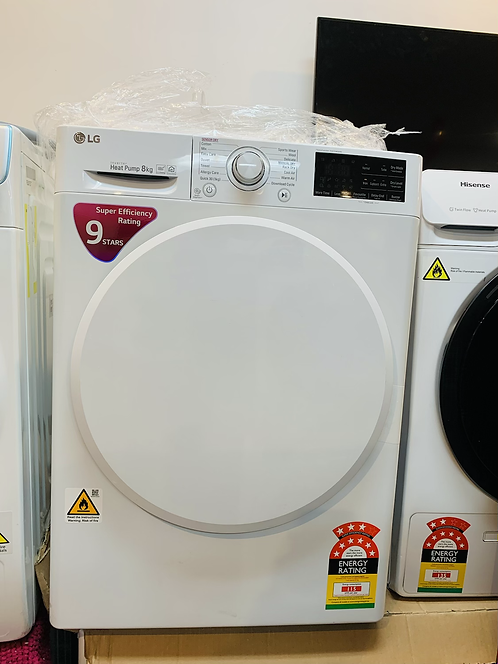 LG 8Kg Wifi Heat Pump Dryer 9 STAR Energy Ratings [2020]