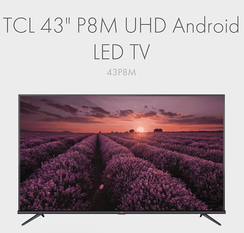 """TCL QUHD 43"""" 4K HDR Android Smart P715 Wifi LED TV [2020 Model]"""