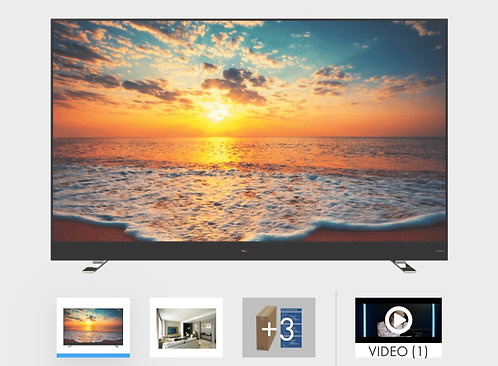 """TCL 75"""" QUHD SERIES 8 Top Model 4K Android Smart LED TV"""