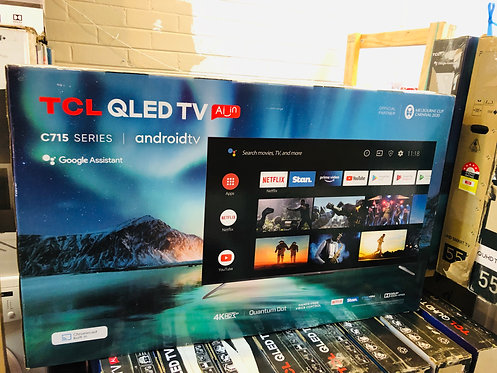 "TCL 55"" QLED 4K Android 200Hz QUANTUM [2020] Wifi TV"