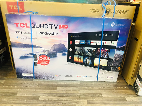 "TCL 55"" QUHD 4K Android Smart Wifi TV [2020 Model]"