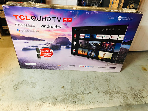 "TCL 50"" QUHD P715 4K Android LED TV [2020]"