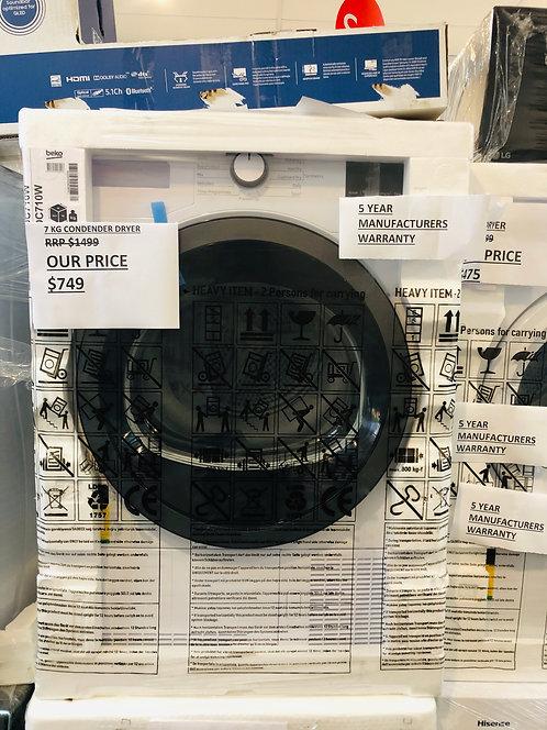 Brand NEW - BEKO 7Kg Condenser Dryer [5 Year Manufacturers Warranty]